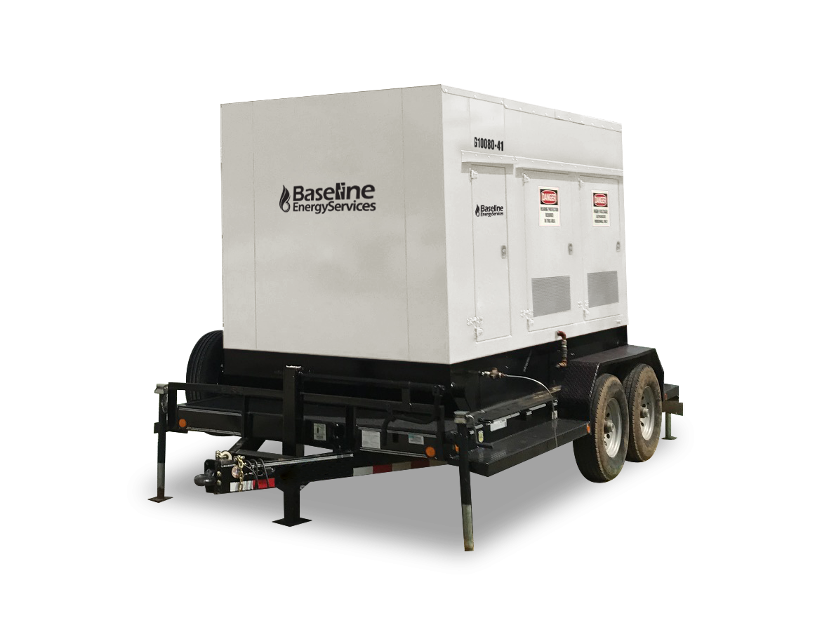 80 kW Natural Gas Generator Rental